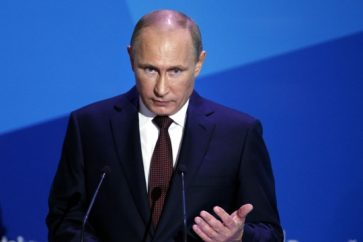 Russian President Vladimir Putin during a press conference (archive)