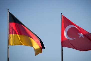 Germany Turkey flags