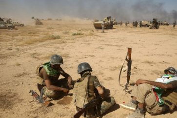 Hashd Shaabi forces in Tal Afar