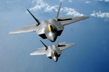 F-22 stealth fighter jets